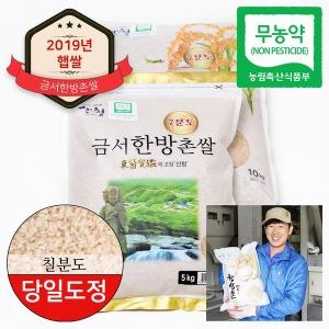 동의보감 산청 무농약 금서한방촌쌀 7분도미 10kg+10kg