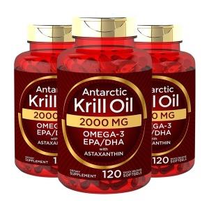 3개 칼라일 남극 크릴오일 2000 mg 120 소프트젤