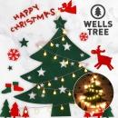 크리스마스 펠트 벽트리 풀세트+LED전구포함 윈터그린
