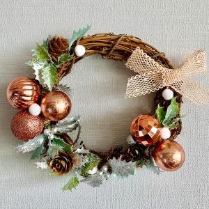 크리스마스 로즈핑크 리스