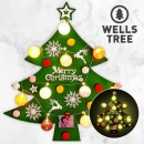 코튼볼 벽트리(그린)/크리스마스 트리/벽트리/펠트
