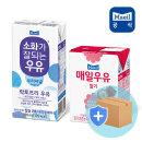 매일 멸균우유 소화가잘되는우유190ml/딸기우유200ml