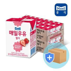 매일 멸균우유 딸기 200ml 48팩/딸기맛우유/두유