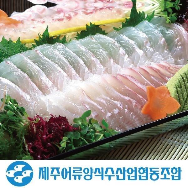제주안심밥상 제주광어회 한마리/반마리 세트(필렛/슬