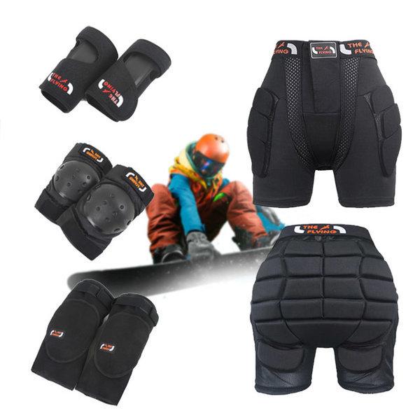 스키 스노우보드 엉덩이보호대 무릎 손목 팔꿈치보호