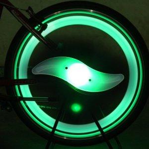 [BUCK703] 자전거 LED 휠라이트 라이트 4가지 컬러 / 그린
