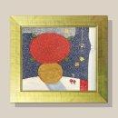 정열의 꽃그림 그림액자 유화그림 풍수그림(금색)12호
