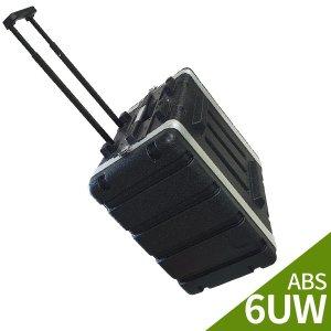 LSR 앰프 이펙터용 랙케이스 ABS-6UW/ 바퀴장착형