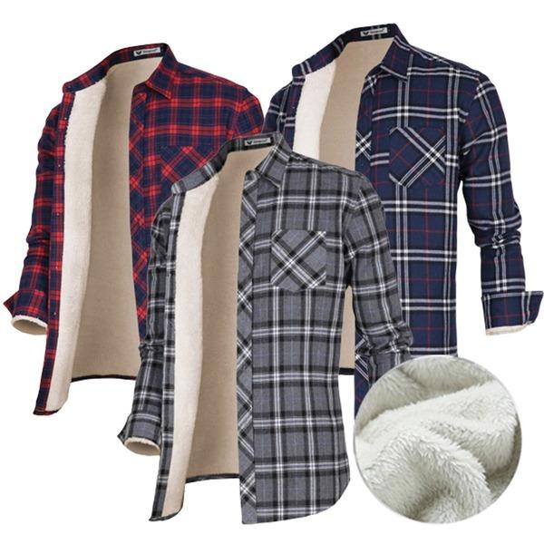 양털셔츠/기모남방/겨울남방/남자겨울셔츠/체크남방