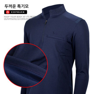 스트라 두꺼운 특 기모티셔츠 발열 방한복 티셔츠
