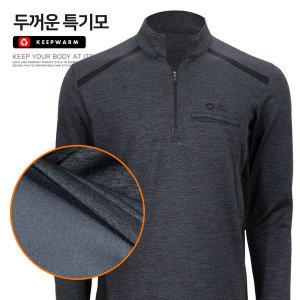 골디르 두꺼운 특 기모티셔츠 발열 방한복 기모폴라티
