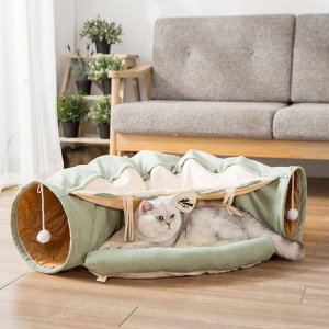 고양이 집 숨숨 용품 방석 장난감 쿠션 올인원 터널 하우스(펫블라썸)/ 스토어봄