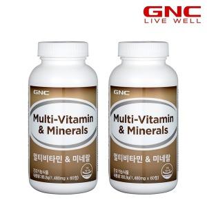 GNC 멀티비타민 앤 미네랄 (60정) x2병 총 4개월분