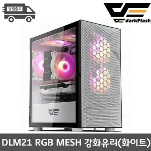 darkFlash DLM21 RGB MESH 강화유리 (화이트)