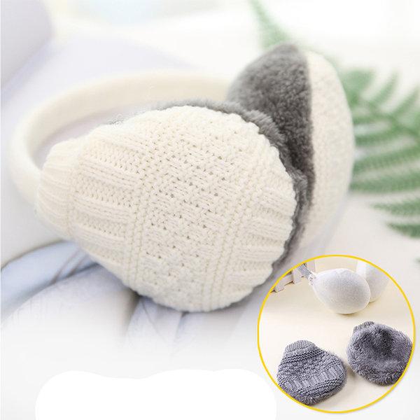 파스텔톤 니트 귀도리 방한귀마개 분리세탁 겨울모자