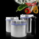 스텐 진공 밀폐용기 세트+펌프증정 캐니스터 반찬통