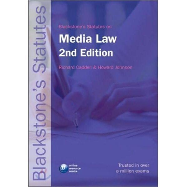 Blackstone s Statutes on Media Law  2 E  Caddell
