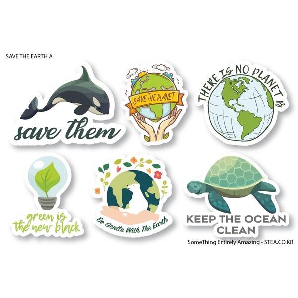 지구를지켜라 리사이클링 환경보호 스티커SET