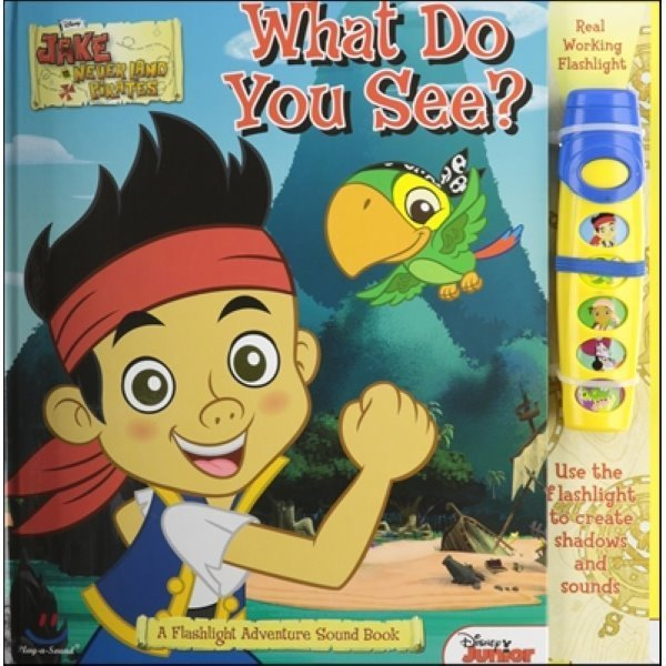 Disney Jake and the Neverland Pirates : What do You See  Flashlight Adventure Sound Book  Publi...