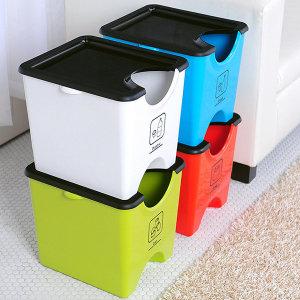 플라팜  에코홀릭 분리수거함 60L 4단 재활용분리수거함 가정용분리수거함