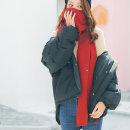 파인 니트 목도리(레드)/여성 머플러 겨울목도리