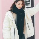 파인 니트 목도리(블랙)/여성 머플러 겨울목도리