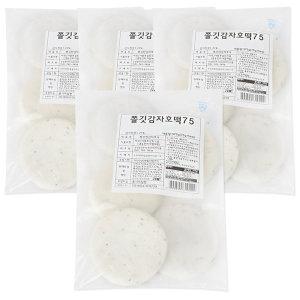 감자호떡 375gx4봉(20개)-꿀호떡 호떡 타피오카전분
