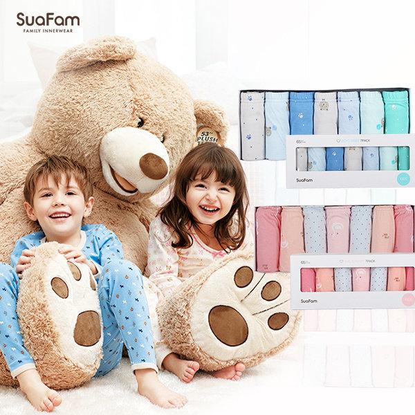 수아팜 남녀 아동 삼각팬티 7매입 패키지 6종 택1