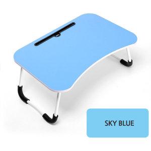 편리한 베드 테이블 베드 트레이 접이식 스카이블루
