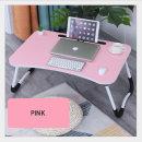편리한 베드 테이블 베드 트레이 접이식 테이블 핑크