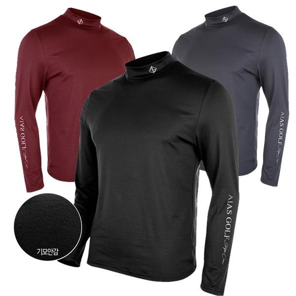 기모 등산 골프 기능성 긴팔티 긴팔 목폴라 티셔츠