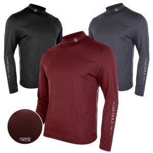 기모 남성 남자 골프웨어 긴팔티 긴팔 목폴라 티셔츠