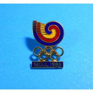 1988년 서울 올림픽 대회 기념 뱃지 로고 빼지 엠블럼