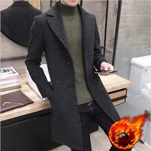남자 가을철 겨울 빅사이즈 모직 코트 두껍다 길다