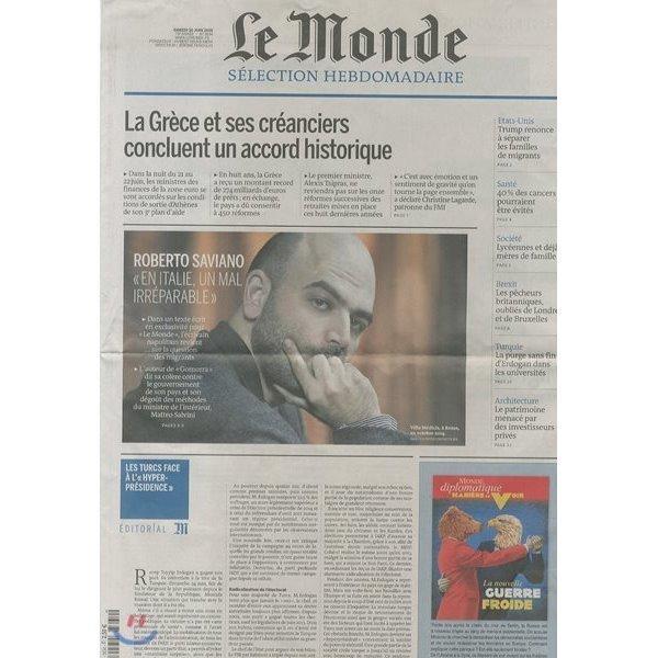 Le Monde Selection (주간) : 2018년 06월 30일  LE MONDE SELECTION