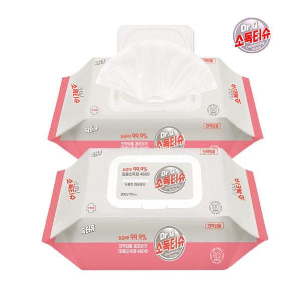 닥터큐 소독티슈 80매x3팩 식약처허가물티슈/의약외품