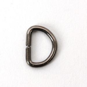 D링 10mm (반달링) - 흑니켈