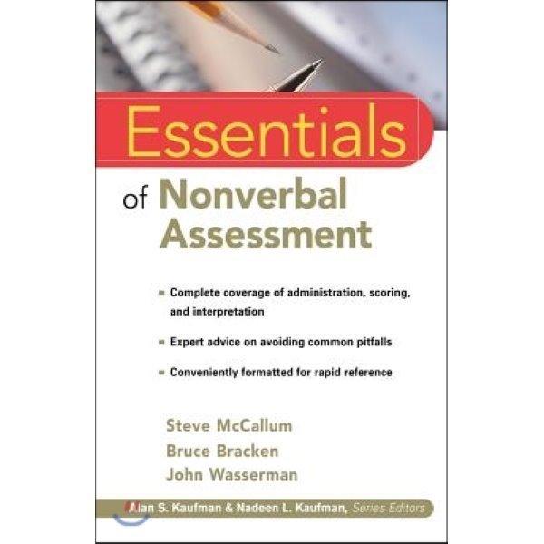 Essentials of Nonverbal Assessment  Mccallum