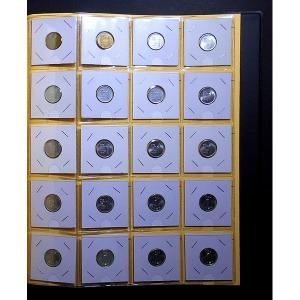한국은행 1원 주화 1966년~1991년 22종 동전 풀세트