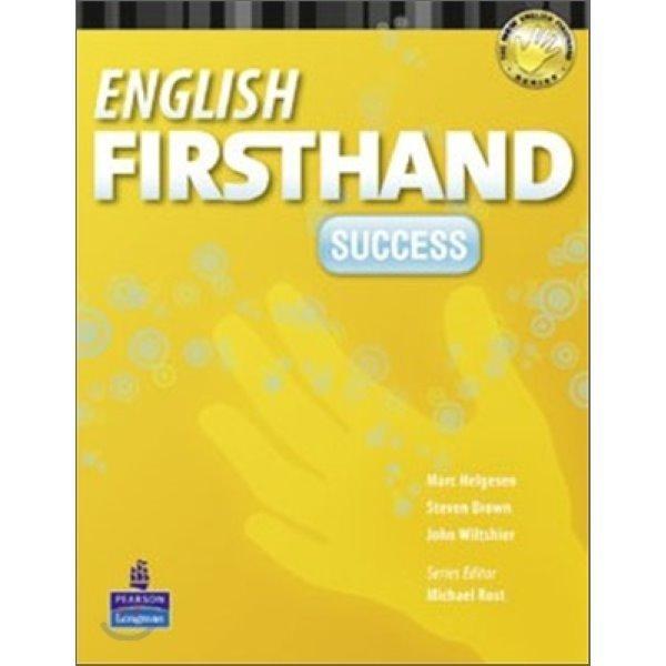 NEW  English Firsthand Success : Student Book (Book   CD)  Marc Helgesen  Steven Brown  John W...