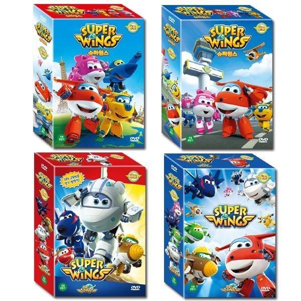 슈퍼윙스 Super Wings 1+2+3+4집 42종세트 (DVD 28종+CD 14종) : EBS 인기 방영작  세계 문화 체험...