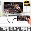 C타입 HDMI케이블/고속충전 미러링 삼성 갤럭시노트10