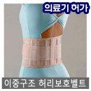 의료용 이중구조 허리보호대/허리 복대/허리보호벨트