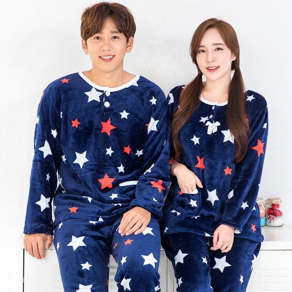 신상 여성 수면 극세사 잠옷 커플 원피스 바지 홈웨어