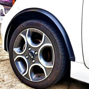 PVC 휀다 몰딩 차량 자동차 머드 가드 블랙-1m 4개