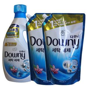 다우니 액체세제 블루 1.9L+1.5Lx2개(일반드럼겸용)