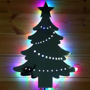 비상 크리스마스트리 미러 LED 벽트리 성탄절트리