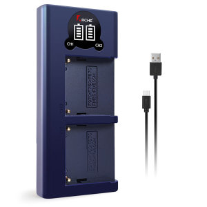 무료 소니 NP-F960/F970 LCD 듀얼충전기 a290 a300
