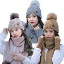 여성/털모자/방울모자/니트모자/겨울모자/머플러/장갑