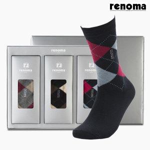 레노마 남성용 3켤레 양말 선물세트 명절선물 (RM-1535B)